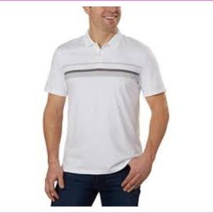 Calvin.K Men's Ribbed Collar and Cuffs Polo Shirt